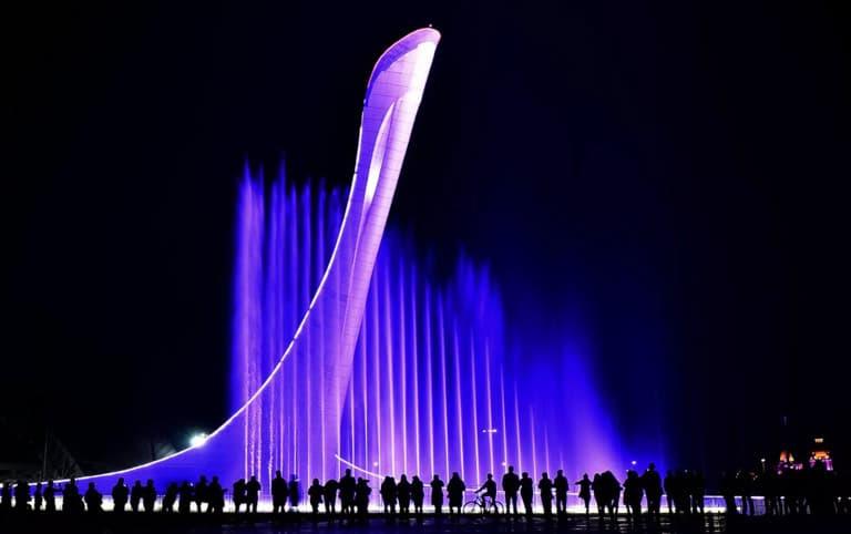 Фонтан в Олимпийском парке Сочи